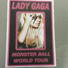 LADY GAGA - CONCERT POSTER - MONSTER BALL WORLD TOUR   (A3 SIZE)