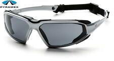 Pyramex Highlander Silver Smoke Anti Fog Lens Padded Safety Glasses Sunglasses