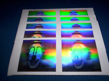 LOT OF 10 HOLOGRAM CLOWN STICKERS