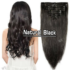 Omber Remy Human Hair 100% Double Thick Weft Clip In  Extensions Full Head BS180