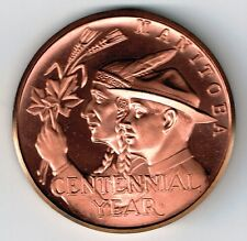 MANITOBA CENTENNIAL YEAR 100TH YEAR COPPER MEDAL BRILLIANT UNCIRCULATED 39mm