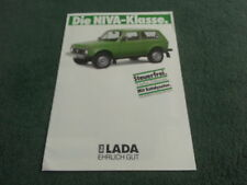 March 1988 LADA NIVA & NIVA CABRIO - L & UT Models - GERMAN LANGUAGE BROCHURE