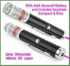 Smallest UV Laser 5mw SINGLE AAA Alkaline Battery (included) Nice & Cheap!