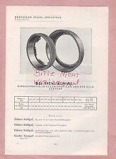 REMSCHEID/RONNEBURG Typentafel 1934 Auto-Räder-Felgen Stahl-Industrie