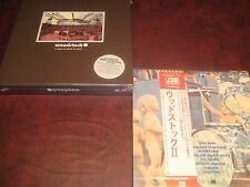 WOODSTOCK 5 LP BOX SET LIMITED EDITION 2009 SEALED + WOODSTOCK 2 JAPAN P-5008 LP