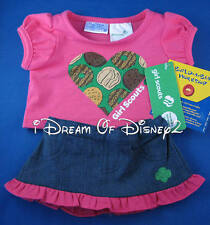 BUILD-A-BEAR GIRL SCOUT SKIRT SET PINK COOKIE HEART TOP TEDDY CLOTHES OUTFIT NEW
