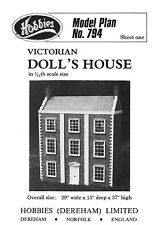 Hobbies Victorian Model Doll's House Plans 12th Scale