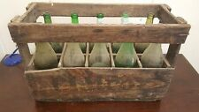 1 x FRENCH WINE CRATE WITH BOTTLES - Genuine Wooden Original Vintage Industrial
