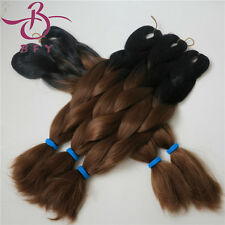 "5pcs african Yaki Ombre hair 24"" 60cm xpression Kanekalon Jumbo Braid 2 tones"