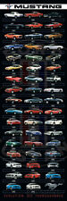 Ford- Mustang Evolution Poster Print, 12x36