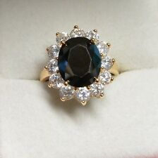 Dolly-Bijoux Grosse Bague T56 Marquise Onyx Cz 20mm plaqué Or 18K 5Microns