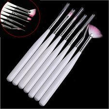 7Pcs Manicure Nail Pen Tool Acrylic Brushes & Salon UV Gel Nail Art Accessories