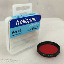New Heliopan Rot 25 Red Baj. III filter for Rolleiflex 2.8F Germany