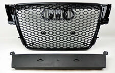 Audi A5 S5 07-11 RS Style Euro Honeycomb Hex Mesh Gloss Black Grill