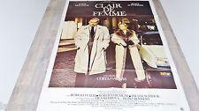 romy schneider CLAIR DE FEMME !   yves montand affiche cinema ferracci  1979