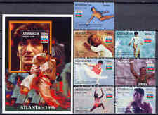 Olympiade 1996, Olympic Games - Aserbaidschan - 289-295, Bl.20 ** MNH