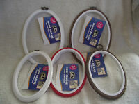 DMC - Oval Flexi Hoop for Embroidery/Cross Stitch - Choice of Size & Colour