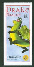 SWEDEN (H517) Scott 2369a, Dragons booklet, VF