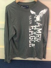 Mens American Eagle Outfitters Long Sleeve T Shirt Top Size Medium Grey