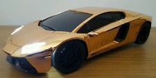 LAMBORGHINI AVENTADOR Radio Remote Control Car 1:18 FAST SPEED - GOLD / CHROME
