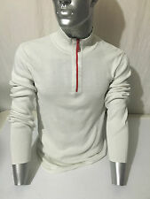 FELPA ARMANI SWEATER T-SHIRT SWEATSHIRT POLO UOMO BIANCO WHITE BLANC FP-169