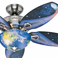 "48"" Hunter Space Design Ceiling Fan - Brushed Nickel - 3 Position Mount"