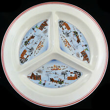 """NAIF CHRISTMAS Hors d'Oevre Plate11.25"""" 3 section NEW made Luxembourg"""