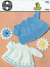 ~ vintage baby knitting pattern for deux sweet angel tops ~