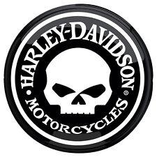 Harley-Davidson Black and White Skull Bar Pub Light