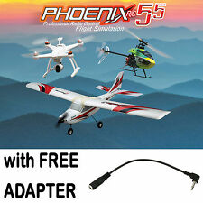 Phoenix R/C RTM5500 Pro Flight Simulator/Sim V5.5 w/ FREE Spektrum DX5E Adapter
