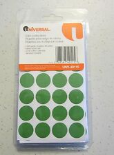 """1008 GREEN UNIVERSAL 3/4"""" ROUND COLOR CODING LABELS STICKER DOTS INVENTORY CODE"""