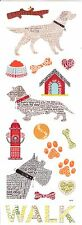 Momenta -  DOG Word Icon Scrapbooking Stickers