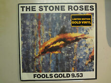 "STONE ROSES:Fools Gold 9:53-U.S.12"" Silvertone On Gold Vinyl Limited Edition ACV"