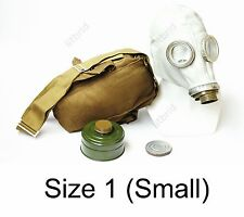 Russian military soviet Grey gas mask GP-5 with filter & bag. New 1 small size
