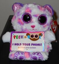 "Ty Peek-A-Boos ~ SAVANNAH the 5"" Leopard ~Justice Exclusive~ 2016 NEW ~ IN STOCK"