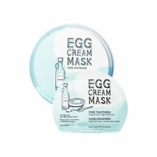 Too Cool For School Egg Cream Facial Mask Pack #Pore Tightening (5pcs)