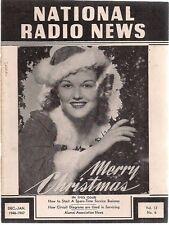 NATIONAL RADIO NEWS December-January 1946/1947 technical newsletter