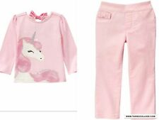 GYMBOREE NWT ENCHANTED WINTER PINK UNICORN OUTFIT SIZE 18-24 MTHS
