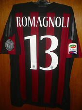 A. ROMAGNOLI MATCH WORN ISSUE HOME SHIRT 2015/16 AC MILAN SERIE A TIM VERSION