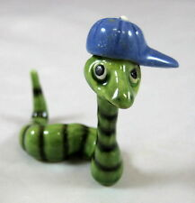 Hagen Renaker miniature worm with hat Homer retired