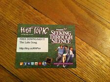 SEEKING THROUGH SILENCE Hot Topic BEAST ATTIRE Free Download THE LAKE SONG Card