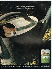 Publicité Advertising 1990 Aliments pour chats Patée Ron Ron