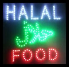 Flashing LED Kosher Halal Food Shop Sign Display Signs Cafe Carry Out Restaurant
