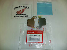 GENUINE HONDA BRAKE PAD SET REAR CR125R CR250R CRF250R CRF250X CRF450R CRF450X