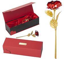 Rot Goldene Ewige Rose mit Gravur Jahrestag Geburtstagsgeschenk Liebes Geschenk