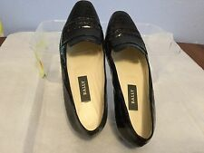 $300 Bally Brown Embossed Leather Flats made In Italy 8.5