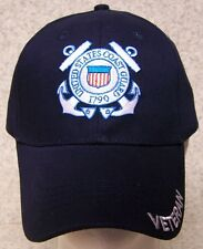 Embroidered Baseball Cap Military Coast Guard Veteran NEW 1 hat size fits all