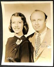 HOLLYWOOD ACTRESS LILY PONS & ANDRE KONSTELANETZ MUSIC AUTOGRAPHED PHOTOGRAPH