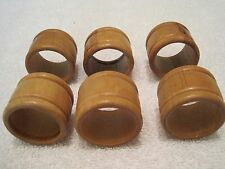 Six Wooden Napkin Rings  finished in Classic Oak Satin 370 one step MINWAX