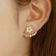 Convertible Sparkling Flower Stud Ear Jacket Front to Back Earrings - NWT
